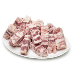 Careta de cerdo cortada congelada