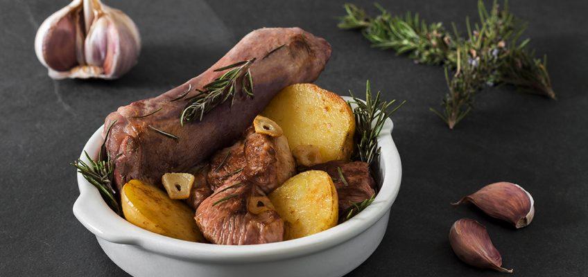 paletillas de ternasco de aragón asadas con patatas