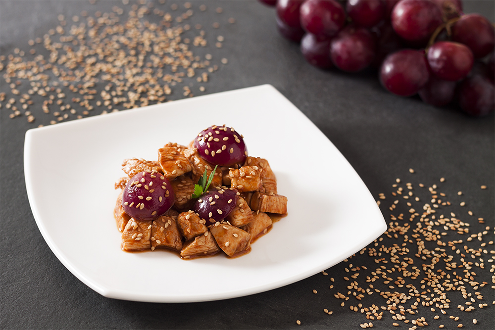 receta pechuga de pavo con uvas
