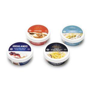 Tarrinas de queso crema